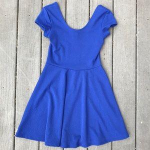 Planet Gold blue skater dress, floral print